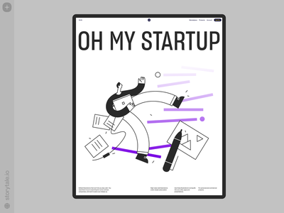 Oh My Startup Illustrations ⭐️ tasks workflow startup characters contrast web product vector ui colorful storytale illustration design