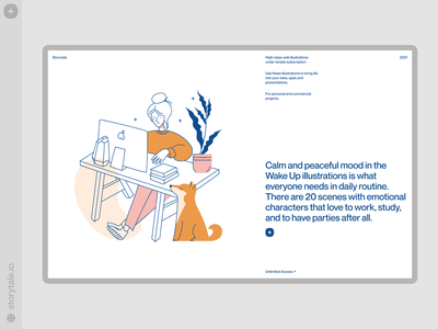 Wake Up illustrations 🌿 wakeup gentle characters web product vector ui colorful storytale illustration design