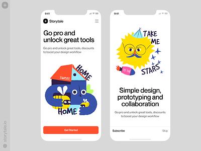 Keep Going 🥳 keep going motivation phrases mobile app app design vector product ui colorful storytale illustration design
