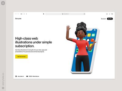 Humanity illustrations 👋 technologies application app people humanity volumetrics volumetric 3d characters web product ui colorful storytale illustration design