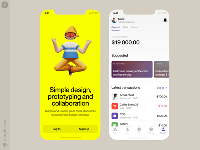 Superscene ❤️ meditation mind sleep superscene app design 3d characters product ui colorful storytale illustration design