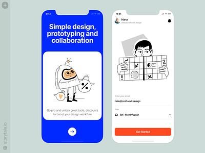 Nankin illustrations ⭐️ sketch outline nankin app design characters vector product ui colorful storytale illustration design