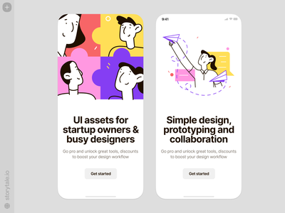 Easy illustrations ✈️ easy cool app design characters vector product ui colorful storytale illustration design