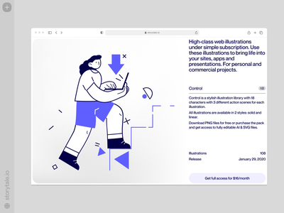 Control illustrations 🧑‍💻 flat outline download tech control characters contrast web vector product ui colorful storytale illustration design