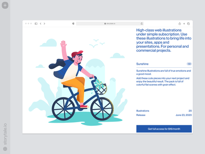 Sunshine illustrations ⭐️ sunshine sun trip joy relax weekend holidays bicycle bright web vector product ui colorful storytale illustration design