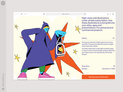 Canny illustrations 💥 bright canny characters contrast web vector product ui colorful storytale illustration design