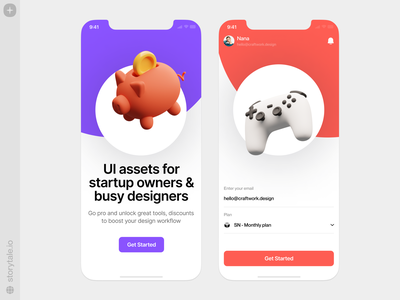 3D Things 🎮 things objects icons superscene piggybank finances gamepad game volumetric 3d application app app design ui colorful storytale illustration design