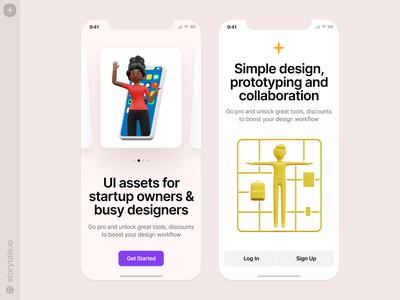 Humanity illustrations 😍 mockup screen ios mobile application app humanity discount sale branding app design 3d characters product ui colorful storytale illustration design