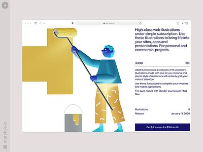 3DDD illustrations ⭐️ 3ddd 3d ux branding product ui colorful storytale illustration design
