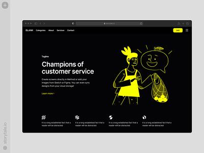 Nankin Illustrations 🖤 ux branding logo vector product ui colorful storytale illustration design