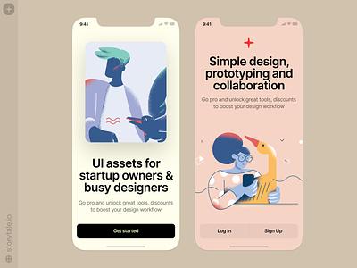 Silky illustrations 😍 noisy grainy silky vector product ui colorful storytale illustration design
