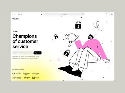 OSLO Illustrations 2 ⭐️ key password details flat outline oslo vector product ui colorful storytale illustration design