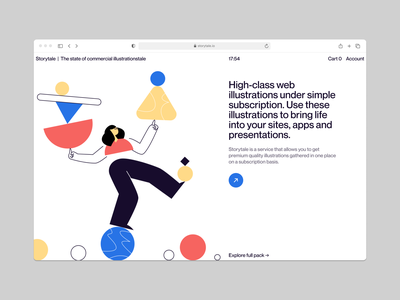 Struct Illustrations 🚀 figure geometric struct vector ui product colorful storytale illustration design