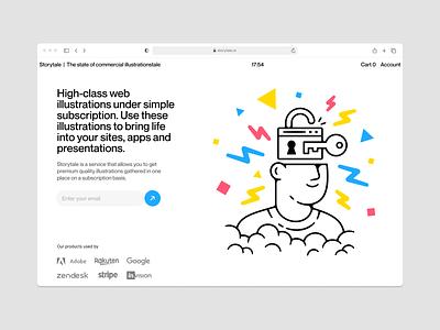 UX/UI Illustrations ⭐️ outline brain key security uxui ux branding logo vector ui product colorful storytale illustration design