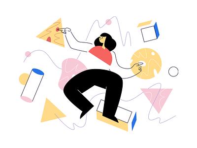 Struct Illustrations 🌟 branding vector product ui colorful storytale illustration design