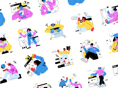 Denmark Illustrations 🚲 vector colorful storytale illustration design