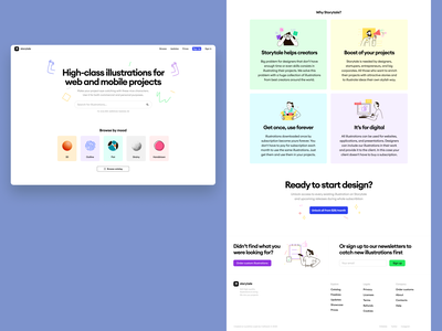Storytale 2 🔥 hiring hunter market free icons styles 3d illustrations ux branding ui logo vector product colorful storytale illustration design