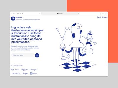 Blueshift illustrations ♟ logic chess blue noisy grainy blueshift vector ui product colorful storytale illustration design