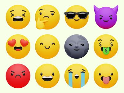 3D Emoji 😍 collection icons objects superscene volumetric emoji 3d ux branding product ui colorful storytale illustration design