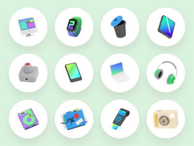 Slam 3D illustrations 🎧 devices tech stuff objects volumetric 3d product ui colorful storytale illustration design