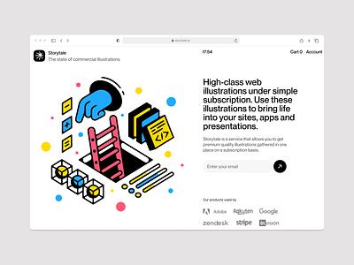 UX/UI illustrations ⚙️ uxui outline vector product ui colorful storytale illustration design