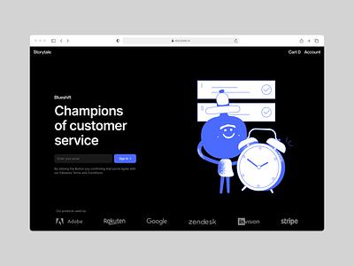 Blueshift illustrations ⭐️ ux branding vector product ui colorful storytale illustration design