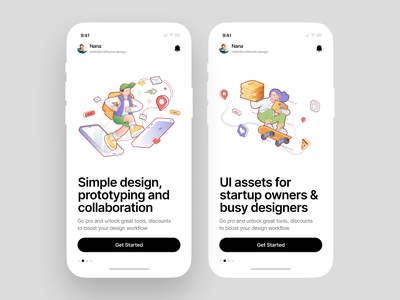 Delivery Man illustrations 🛹 services scooter skateboard auto car delivery custom app application app design vector product ui colorful storytale illustration design