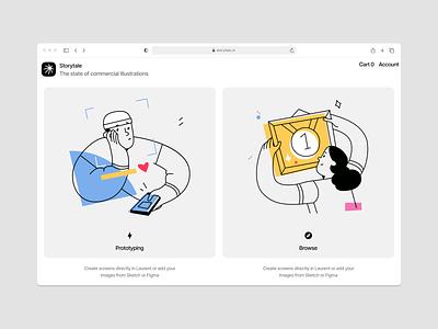 Do it illustrations 💪 prototype frame outline prize do it vector product ui colorful storytale illustration design