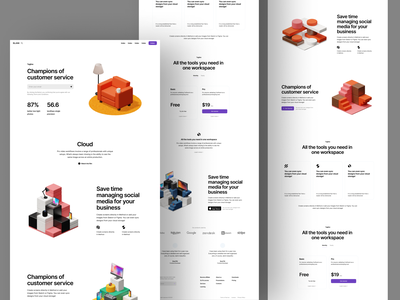 Isometrica illustrations ❤️ scene room isometric objects bright constructor icons 3d product ui colorful storytale illustration design