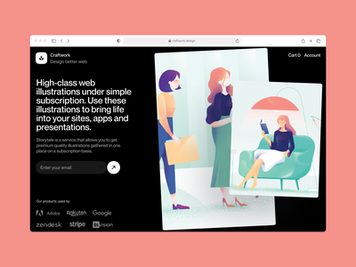 Nature illustrations 🌿 team office characters noisy grainy nature vector ui product colorful storytale illustration design