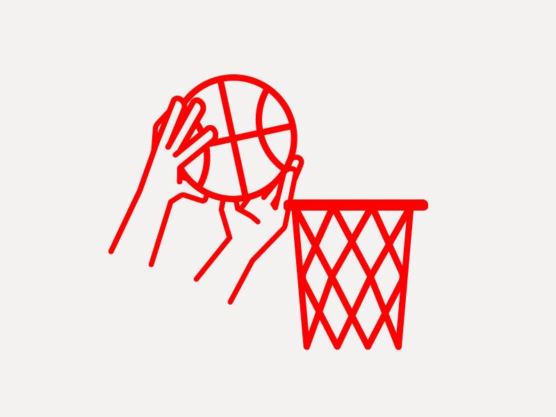 Basketsport! flat sketch hands singleweight line linedrawing linework vector sport basketball sports illustration