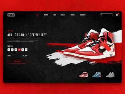 Buzz Sneakers Store Website Redesign