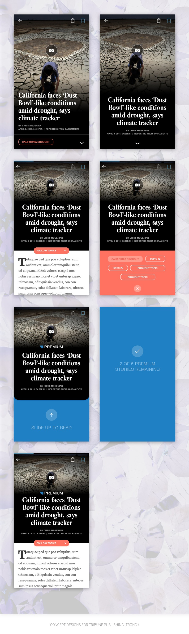 News app concepts latimes full dribbble 2