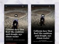 News app concepts latimes full dribbble 2