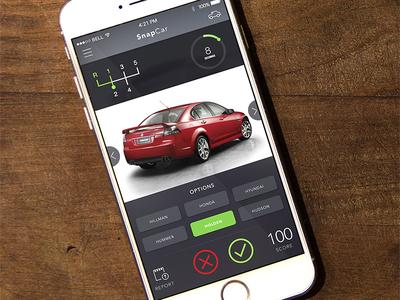 UI design for a car quiz app user interface design uiux design iphone app car app minimalistic design modern design material design clean design quiz app iphone app design ui design