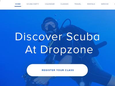 Diveshop bootstrap white-space homepage modern clean website design ui user interface design uiux