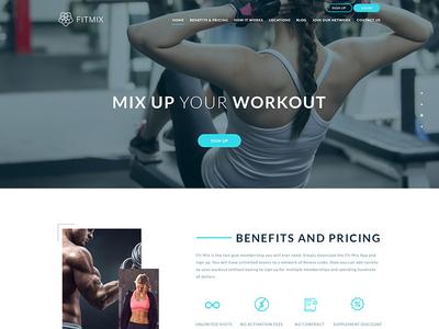 Fitmix clean design white space modern design web design web app fitness app user interface design uiux workout exercise fitness web ui