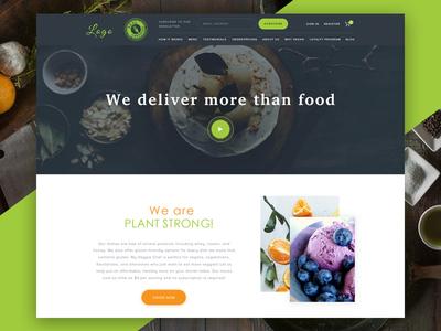 Vegan Meal Delivery Website colorful modern clean ui website design website food delivery service vegetarian vegen food