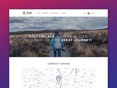Shuttrplace web app landing page website web design user interface design web application landing page modern clean ui photography