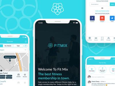 Fitness app redesign mockup modern app redesign clean ui uiux user interface iphone x app design mobile app fitness