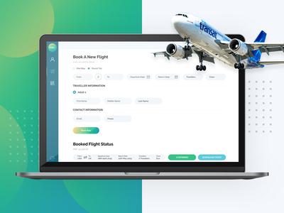 Flight booking dashboard for a corporate event uiux clean modern user interface design dashboard design web app design flight booking