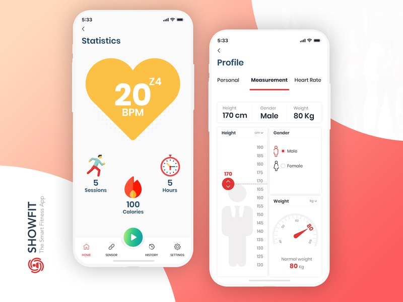 Fitness app UI/UX design wearable tech android wear wearables user experience design android app design ios tracker healthcare user interface design clean mobile app design uiux app design modern fun fitness app fitness