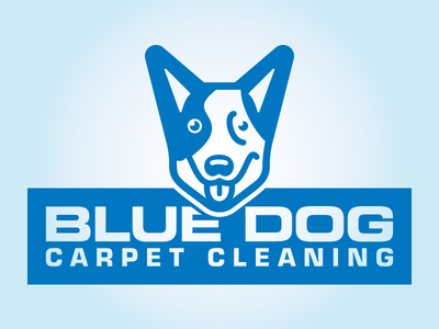 Blue Dog Carpet Cleaning puppy pup dogs logo cleaning carpet blue dog