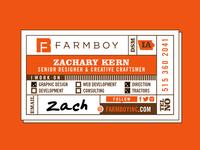 Farmboy Business Card Concept