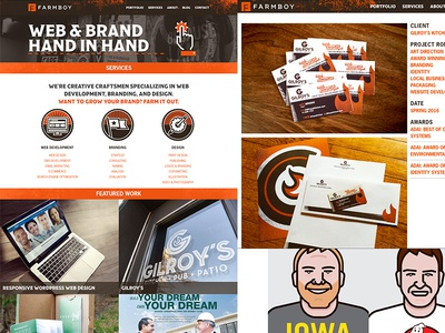 New Farmboy Website web design identity wordpress branding brand design web