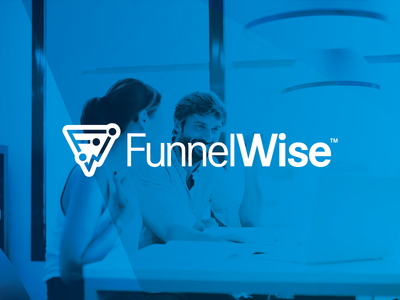 FunnelWise icon wise funnel technology service saas software tech branding