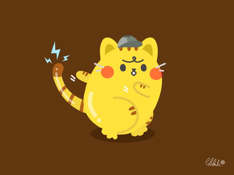 「POKÉMON 名偵探皮卡丘」 vector pokemon pikapika pikachu pika illustrator cute illustration drawingart drawing cute character cat 2dart