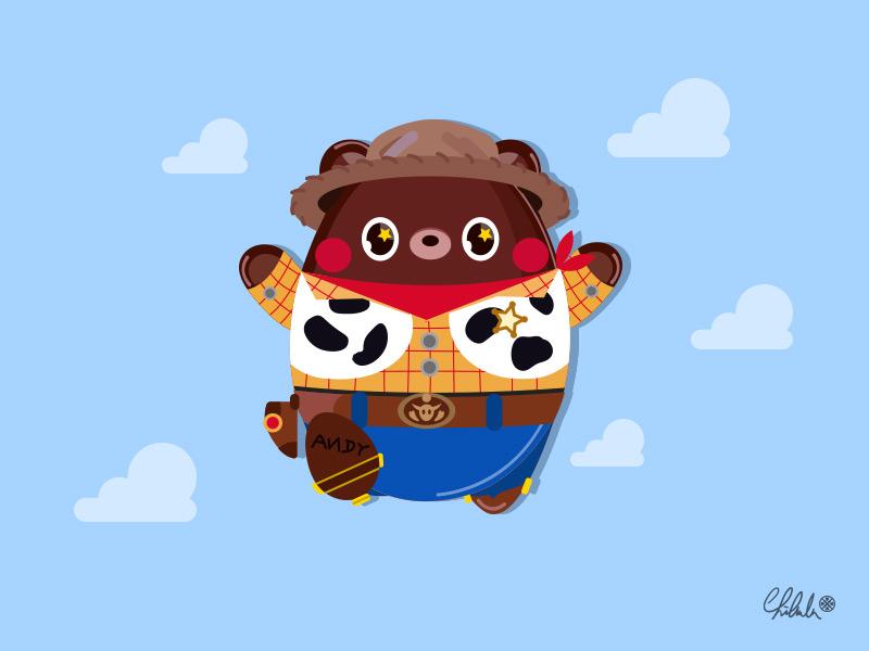 「Hi, Woody」 vector disney art 2dart bear character illustration drawing woody disney pixar toystory4 toystory