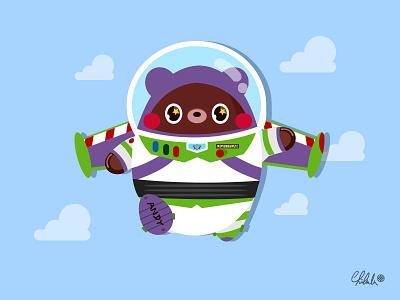 「Hi, Buzz」 disney pixar buzz toystory4 toystory buzzlightyear illustrator drawing cute character vector illustration 2dart