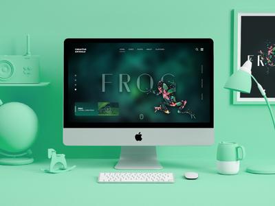 Creative Frog website design typography creative application colorful user inteface app design app graphic design graphic trend web designer website web design web ux ui animation frog animal